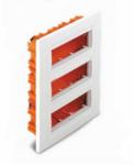 Коробки для врезного монтажа 3ряд. горизонтальный 18мод. белый U22.736.18