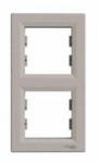 Рамка 2 поста бронза вертикальный EPH5810269