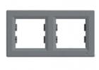 Рамка 2 поста сталь горизонтальный EPH5800262