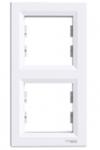 Рамка 2 поста белая вертикальная EPH5810221