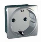 Механизм розетки 2К+З 16А 2-мод. алюминий MGU3.036.30