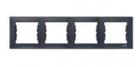 Рамка 4 поста графит горизонтальная SDN5800770