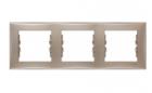 Рамка 3 поста титан горизонтальная SDN5800568