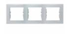 Рамка 3 поста серая горизонтальная SDN5800533