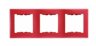 Рамка 3 поста красная горизонтальная SDN5800541