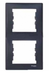 Рамка 2 поста графит вертикальная SDN5801170