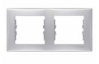 Рамка 2 поста алюминий горизонтальная SDN5800360
