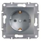 Механизм розетки (2К+З) 16A со шторками сталь EPH2900262