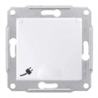 Механизм розетки (2К+З) 16A со шторками и крышкой белый SDN3100121