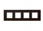 Рамка 4 поста кожа трюфель MGU68.008.7P2