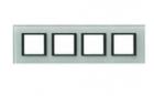 Рамка 4 поста матовое стекло MGU68.008.7C3