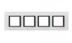 Рамка 4 поста белое стекло MGU68.008.7C2