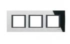 Рамка 3 поста черное зеркало MGU68.006.7C1
