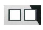 Рамка 2 поста черное зеркало MGU68.004.7C1